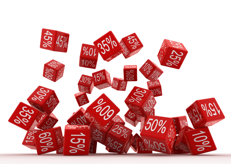 Falling Percent Red Cubes
