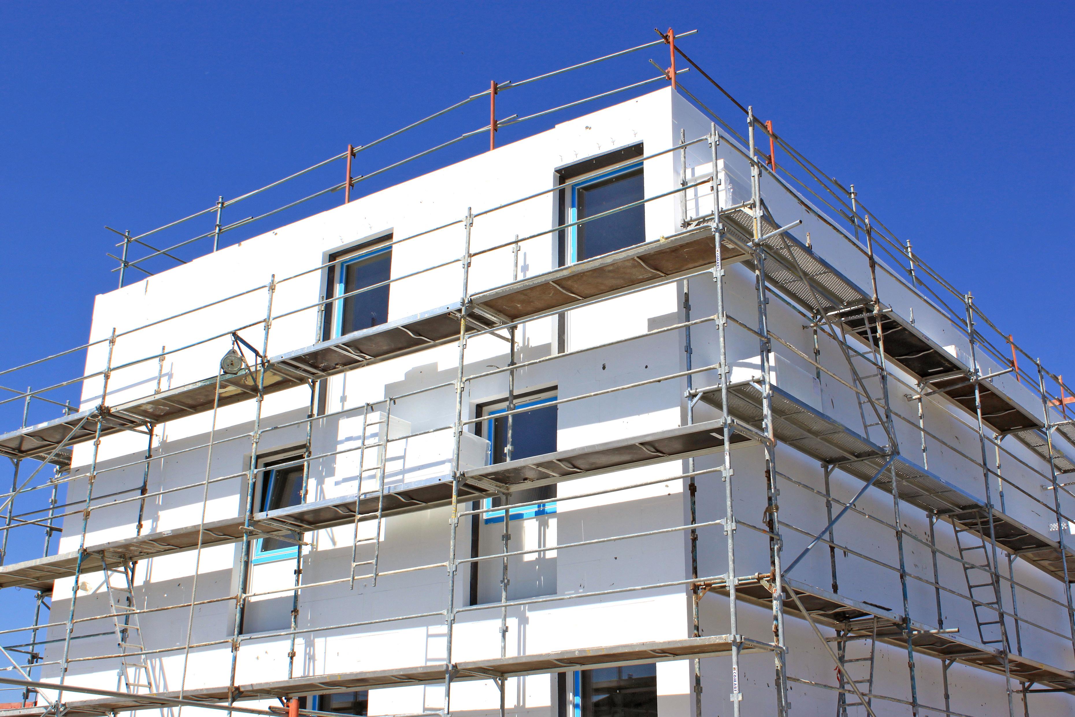résidence immobilière neuve en construction