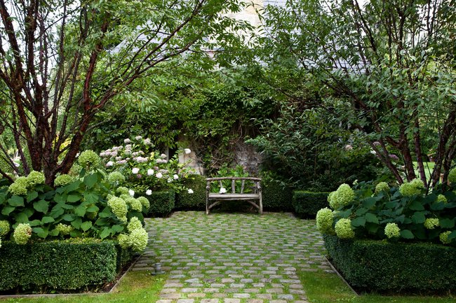 Banc jardin anglais