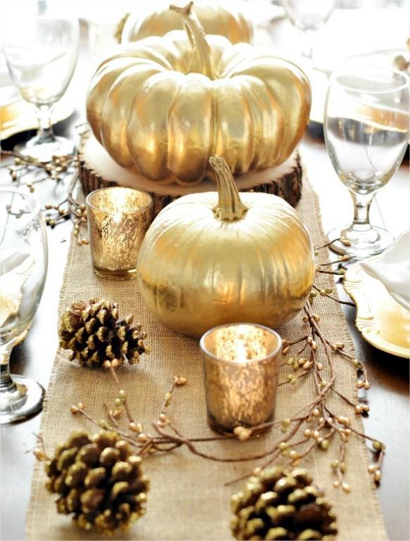 decoration hiver dorée