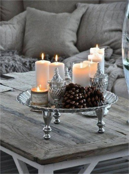 decoration hiver bougies
