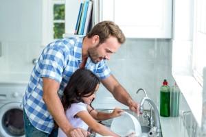 Nettoyage en famille