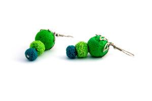 Boucles d'oreilles fimo perles