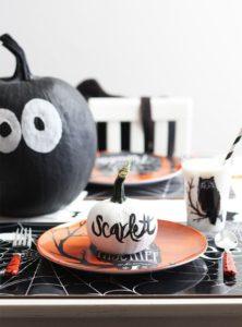 décoration table pour halloween