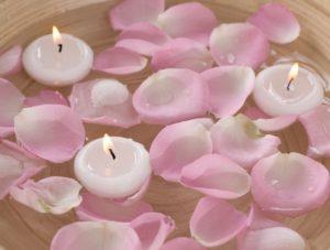 bougies flottantes chambre romantique