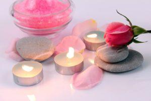 bougies parfumées chambre romantique