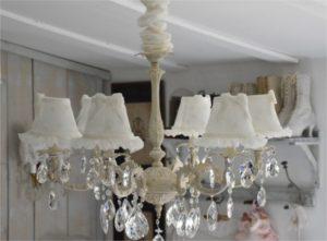 Lustre cristal - Chambre romantique