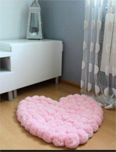 tapis rose coeur