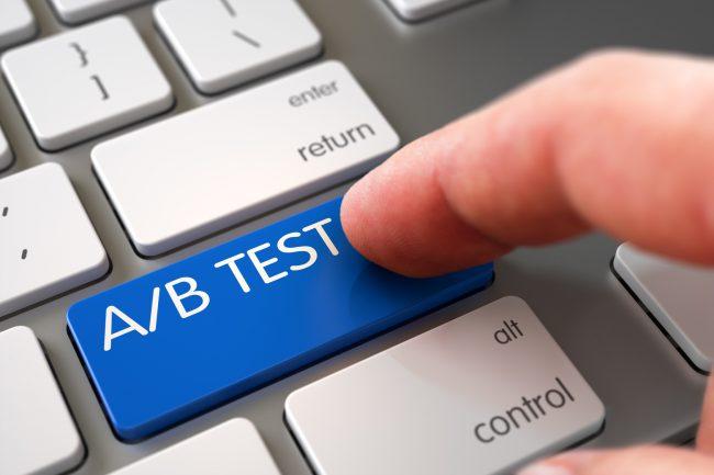 A/B testing - site web immobilier novateur