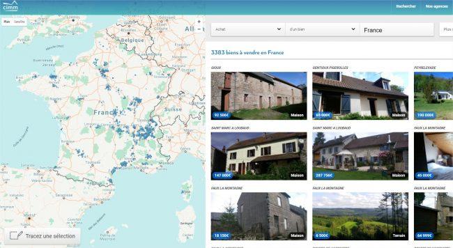 site web immobilier technologique