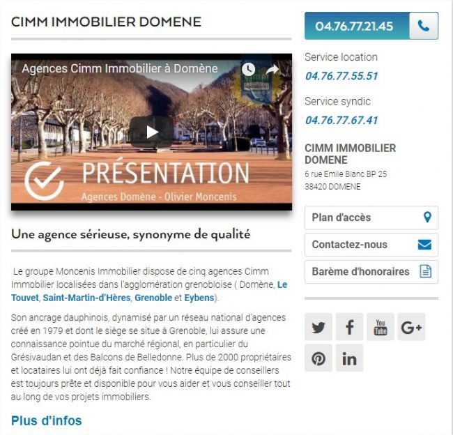 site immobilier moderne