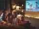 famille devant la télé soirée