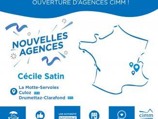 ouvertures agences Cimm Immobilier Savoie Drumettaz et l'Ain Grand Colombier